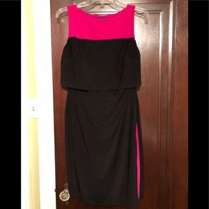 Black and pink dress - perfect for work
